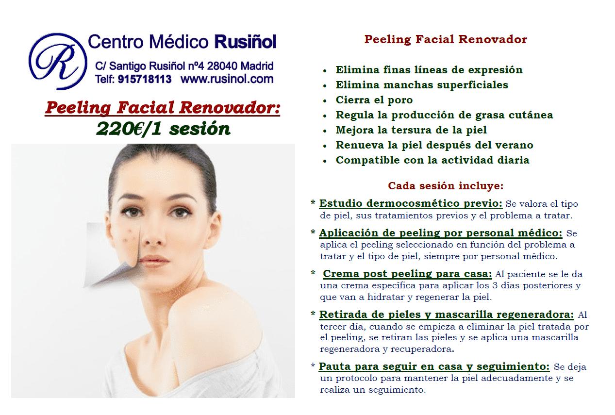 Peeling facial renovador